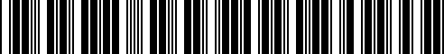 Barcode for 40300-9HP9A