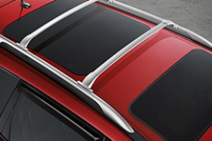 Roof Rail Crossbars - Bright Silver (2-piece set) image for your Nissan Maxima